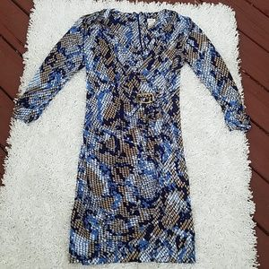 Cache Faux Wrap Dress, Size Large